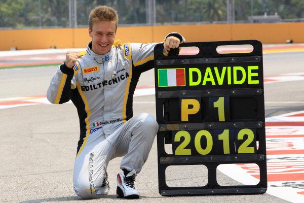 Davide Valsecchi (ITA) DAMS celebrates his 2012 GP2 Series Championship victory. GP2 Series, Rd12, Marina Bay Street Circuit, Singapore, 21-23 September 2012.