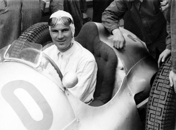 1937 German Grand Prix. Nurburgring, Germany. 25 July 1937.  Dick Seaman, Mercedes-Benz W125, retired.  Ref: RF37_GER_ World Copyright: Robert Fellowes/LAT Photographic
