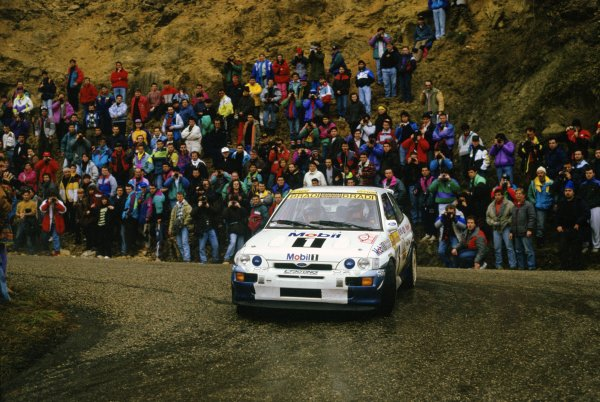 1994 World Rally Championship.Monte Carlo Rally, Monaco. 22-27 January 1994.Francois Delecour/Daniel Grataloup (Ford Escort RS Cosworth), 1st position.World Copyright: LAT PhotographicRef: 35mm transparency 94RALLY01