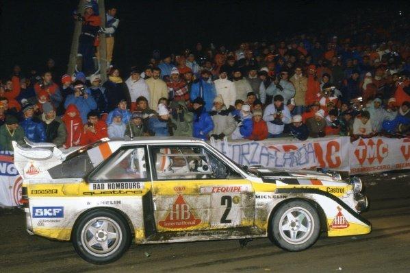1986 World Rally Championship.Monte Carlo Rally, Monaco. 18-24 January 1986.Walter Rohrl/Christian Geistdorfer (Audi Sport Quattro E2), 4th position.World Copyright: LAT PhotographicRef: 35mm transparency 85RALLY24