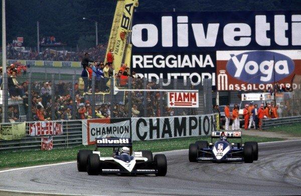 1986 San Marino Grand Prix.Imola, Italy.25-27 April 1986.Riccardo Patrese (Brabham BT55 BMW) leads Jacques Laffite (Ligier JS27 Renault). Patrese finished in 6th position.World Copyright - LAT Photographic