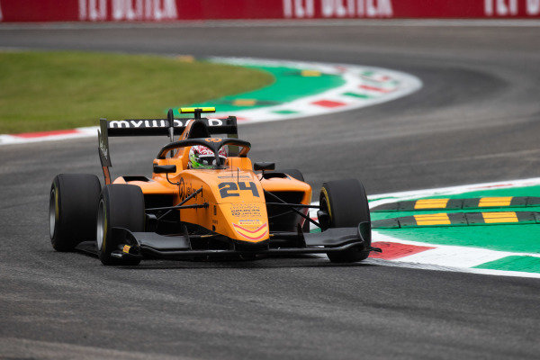 AUTODROMO NAZIONALE MONZA, ITALY - SEPTEMBER 06: Alessio Deledda (ITA, Campos Racing) during the Monza at Autodromo Nazionale Monza on September 06, 2019 in Autodromo Nazionale Monza, Italy. (Photo by Joe Portlock / LAT Images / FIA F3 Championship)