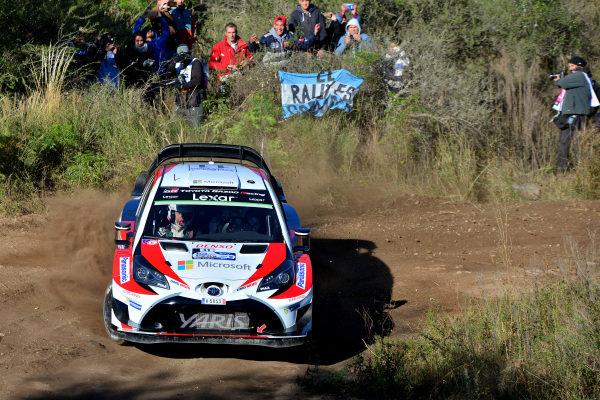 Juho Hanninen (FIN) / Kaj Lindstrom (FIN), Toyota Gazoo Racing Toyota Yaris WRC at World Rally Championship, Rd5, Rally Argentina, Preparations and Shakedown, Villa Carlos Paz, Cordoba, Argentina, 27 April 2017.