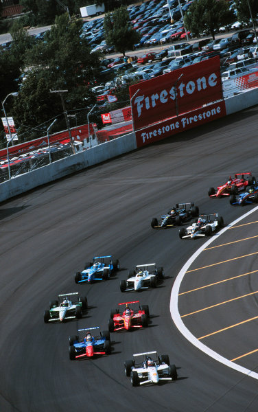 1999 CART Chicago GP, 22/8/99Papis leads from the start-1999, Michael L. Levitt, USALAT PHOTOGRAPHIC