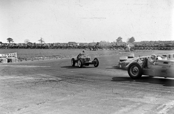 Louis Rosier, Talbot-Lago T26C, leads Bob Gerard, ERA B.