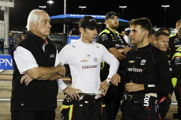 Roger Penske, Simon Pagenaud, Team Penske Chevrolet, Will Power, Team Penske Chevrolet