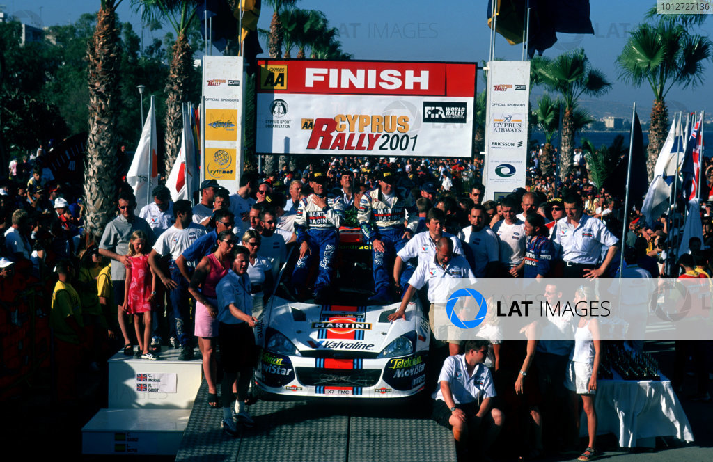 The Ford Team celebrate victory.