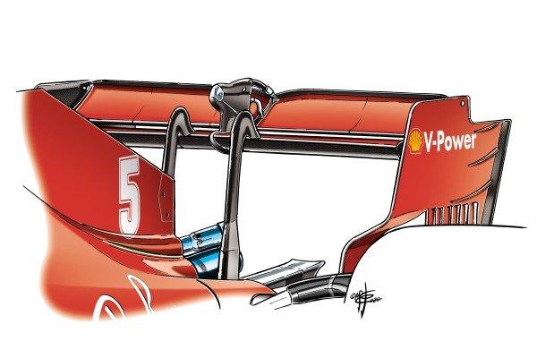 Ferrari SF1000 rear wing detail British GP