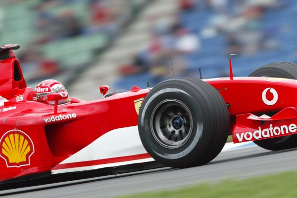 2002 German Grand Prix - PracticeHockenheim, Germany. 26th July 2002.Rubens Barrichello (Ferrari F2002).World Copyright: Steve Etherington/LATref: Digital Image Only
