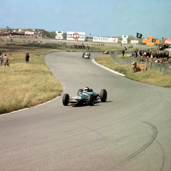 Zandvoort, Holland. 21 - 23 May 1963. Dan Gurney (Brabham BT7 Climax) 2nd position. Ref-3/0972. World Copyright - LAT Photographic