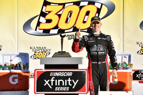 #42: John Hunter Nemechek, Chip Ganassi Racing, Chevrolet Camaro Chevrolet Fire Alarm Services, Inc. wins