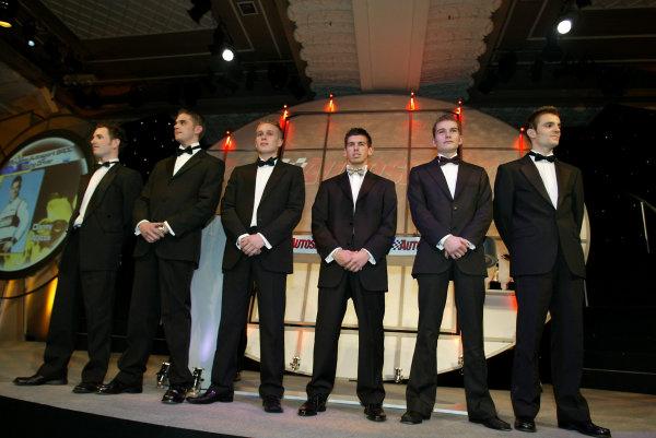 2002 Autosport Awards.McLaren Autosport BRDC Young Driver finalists.Grosvenor Hotel, London, England.1st December 2002.World Copyright: Spinney/LAT Photographic.Ref.: Digital Image Only