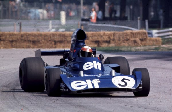 1973 Italian Grand Prix.Monza, Italy.7-9 September 1973.Jackie Stewart (Tyrrell 006 Ford) 4th position clinching the World Championship.World Copyright - LAT Photographic