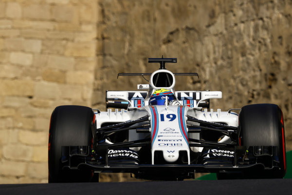 Baku City Circuit, Baku, Azerbaijan. Friday 23 June 2017. Felipe Massa, Williams FW40 Mercedes. World Copyright: Steven Tee/LAT Images ref: Digital Image _O3I1292
