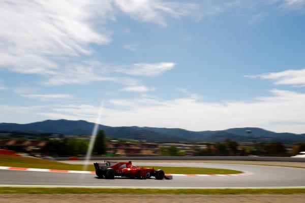 Circuit de Catalunya, Barcelona, Spain. Saturday 13 May 2017. Sebastian Vettel, Ferrari SF70H. World Copyright: Steven Tee/LAT Images ref: Digital Image _R3I1165