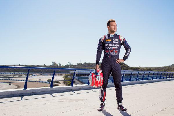2017 FIA Formula 2 Round 10. Circuito de Jerez, Jerez, Spain. Thursday 5 October 2017. Luca Ghiotto (ITA, RUSSIAN TIME).  Photo: Zak Mauger/FIA Formula 2. ref: Digital Image _56I3862