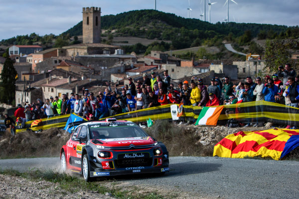 2017 FIA World Rally Championship, Round 11, Rally RACC Catalunya / Rally de Espa?a, 5-8 October, 2017, Kris Meeke, Citroen, action, Worldwide Copyright: LAT/McKlein