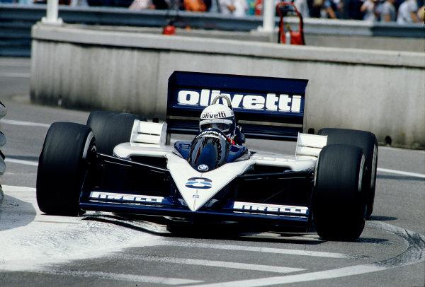 1986 Monaco Grand Prix. Monte Carlo, Monaco. 8-11 May 1986. Elio de Angelis (Brabham BT55 BMW). Ref-86 MON 66. World Copyright - LAT Photographic