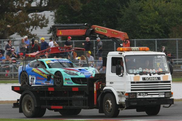 2014 Ginetta GT4 Supercup, Silverstone, England. 27th-28th September 2014. Carl Boardley (GBR) JHR retired World Copyright: Ebrey / LAT Photographic.