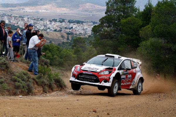 Round 06 - Rally Acropolis, Greece. 24-27 May 2012. Evgeny Novikov, Ford WRC, Action.  Worldwide Copyright: McKlein/LAT