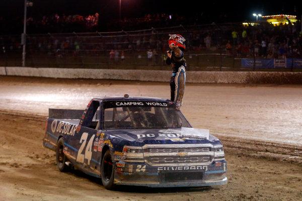 19-20 July, 2016, Rossburg, Ohio USA Kyle Larson celebrates his win  ?2016, Russell LaBounty LAT Photo USA