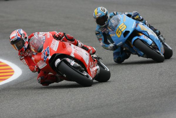 Gran Premio D'Itali Alice.Mugello, Italy. 31st May 2009.Casey Stoner Ducati Marlboro Team leads Loris Capirossi Rizla Suzuki.World Copyright: Martin Heath/LAT Photographicref: Digital Image BPI_Moto 8k3i