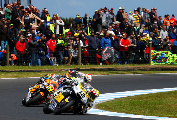 2017 Moto2 Championship - Round 16 Phillip Island, Australia. Sunday 22 October 2017 Thomas Luthi, CarXpert Interwetten World Copyright: Gold and Goose / LAT Images ref: Digital Image 24766