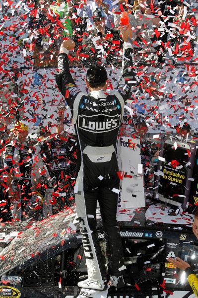 30 May-1 June, 2014, Dover, Delaware USA Jimmie Johnson celebrates his win in Victory Lane ? 2014, Matt Thacker  LAT Photo USA