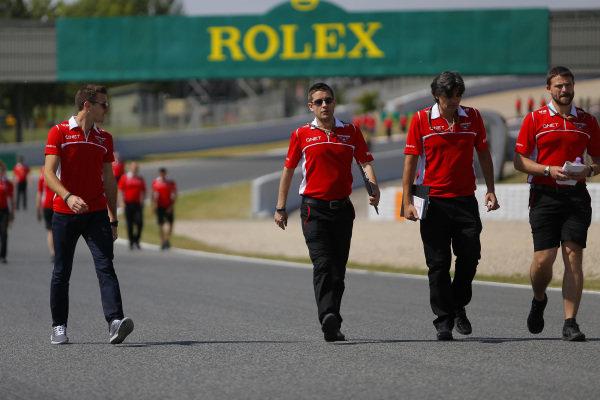 Jules Bianchi (FRA) Marussia F1 Team walks the track. Formula One World Championship, Rd5, Spanish Grand Prix, Preparations, Barcelona, Spain, Thursday 8 May 2014.