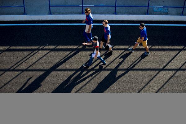 2017 GP3 Series Round 7.  Circuito de Jerez, Jerez, Spain. Thursday 5 October 2017. Ryan Tveter (USA, Trident), Dorian Boccolacci (FRA, Trident), Santino Ferrucci (USA, Trident). Photo: Zak Mauger/GP3 Series Media Service. ref: Digital Image _X0W9310