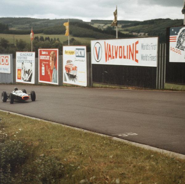 Spa-Francorchamps, Belgium.12-14 June 1964.Graham Hill (BRM P261) 5th position.Ref-3/1260.World Copyright - LAT Photographic