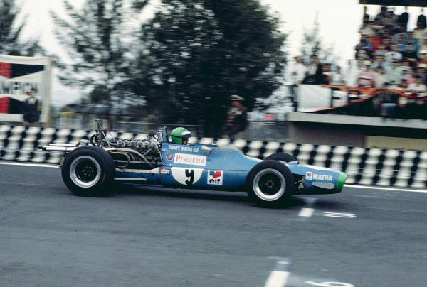 1968 Mexican Grand Prix.Mexico City, Mexico.1-3 November 1968.Henri Pescarolo (Matra MS11) 9th position.Ref-68 MEX 38.World Copyright - LAT Photographic