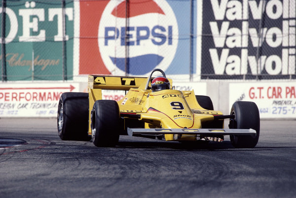 1981 United States Grand Prix West.Long Beach, California, USA.13-15 March 1981.Jan Lammers (ATS D4 Ford).Ref-81 LB 39.World Copyright - LAT Photographic