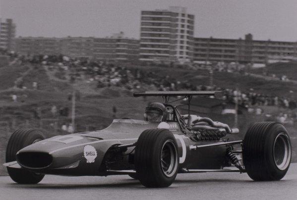 1968 Dutch Grand Prix.Zandvoort, Holland. 23 June 1968.Jacky Ickx, Ferrari 312, 4th position, action.World Copyright: LAT PhotographicRef: Motor b&w print