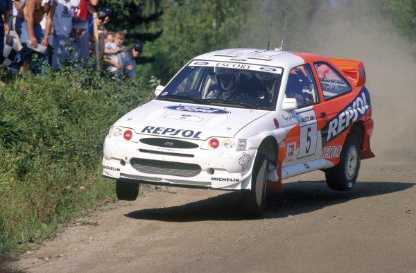 1997 World Rally Championship.1000 Lakes Rally, Finland. 29-31 August 1997.Carlos Sainz/Luis Moya (Ford Escort WRC), retired.World Copyright: LAT PhotographicRef: 35mm transparency 97RALLY13