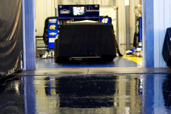 28-29 June, 2013, Sparta, Kentucky USA Jimmie Johnson's car during rain delay © 2013, Russell LaBounty LAT Photo USA .