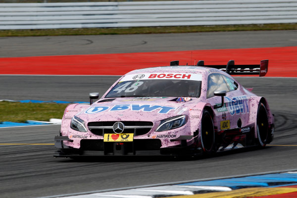 2017 DTM Round 1 Hockenheim, Germany. Friday 5 May 2017. Edoardo Mortara, Mercedes-AMG Team HWA, Mercedes-AMG C63 DTM World Copyright: Alexander Trienitz/LAT Images ref: Digital Image 2017-DTM-R1-HH-AT1-0677
