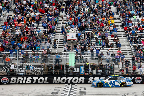 Monster Energy NASCAR Cup Series Food City 500 Bristol Motor Speedway, Bristol, TN USA Monday 24 April 2017 Jimmie Johnson World Copyright: Matthew T. Thacker LAT Images ref: Digital Image 17BMS1mt1545