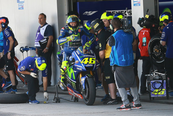 2017 MotoGP Championship - Round 4 Jerez, Spain Saturday 6 May 2017 Valentino Rossi, Yamaha Factory Racing World Copyright: Gold & Goose Photography/LAT Images ref: Digital Image motogp-spa-qualif-1957