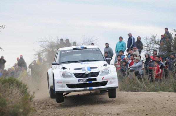 Sebastien Ogier (FRA) and Julien Ingrassia (FRA), Skoda Fabia S2000, on stage 7. FIA World Rally Championship, Rd5, Philips Rally Argentina, Day 2, Carlos Paz, Cordoba, Argentina, Saturday 28 April 2012.