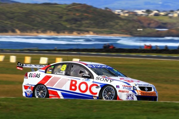 Jason Richards (NZL) and Andrew Jones (AUS) BOC Gases BJR Commodore finished third.Australian V8 Supercars, Rd10, L&H 500, Phillip Island, Australia, 12 September 2010.