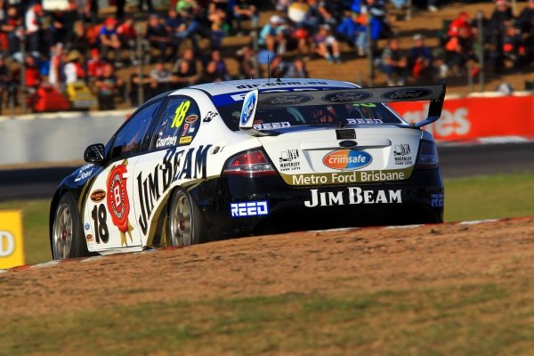 James Courtney (AUS) Jim Beam Racing DJR Ford, won both races to take the lead in the Championship, the first new leader since 2008.Australian V8 Supercars, Rd6, Winton Raceway, Victoria, Australia, 16 May 2010.