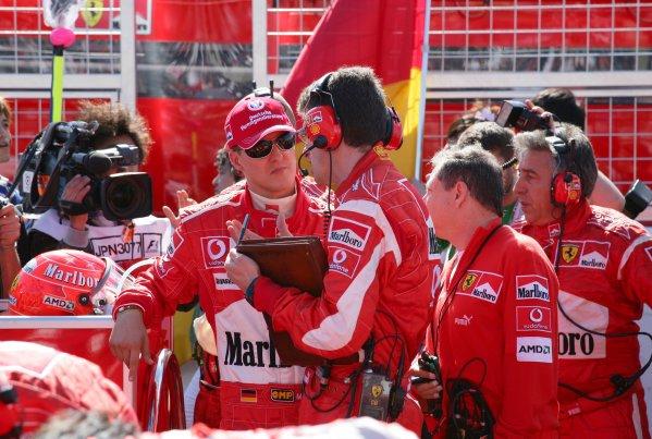 2006 Japanese Grand Prix - Sunday Race,  Suzuka, Japan. Michael Schumacher, Ferrari 248F1, retired, portrait. 8th October 2006  World Copyright: Steve Etherington/LAT Photographic  ref: 48mb Hi Res Digital Image Only