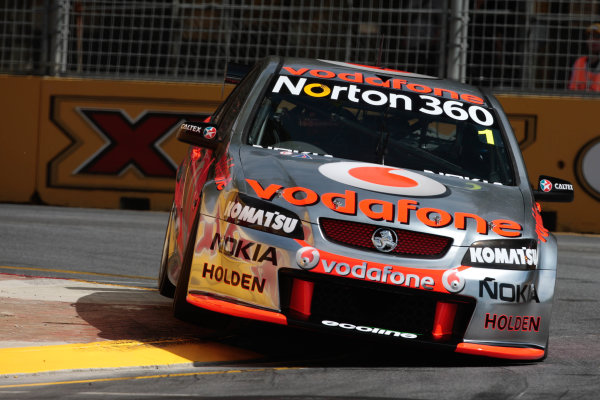 Round 3 -  Clipsal 500Adelaide Street Circuit, Adelaide, South Australia. 14th March 2010.Car 1,Jamie Whincup,Commodore VE,Holden,T8,TeamVodafone,Triple Eight Race Engineering,Triple Eight RacingWorld Copyright: Mark Horsburgh/LAT Photographic.ref: Digital Image 1-Whincup-EV03-10-3406 jpg