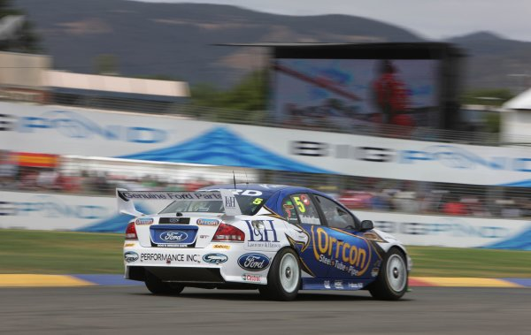 The Ford Performance Racing V8 Supercar of Mark Winterbottom during the Clipsal 500, Round 01 of the Australian V8 Supercar Championship Series at the Adelaide Street Circuit, Adelaide, South Australia, February 23, 2008.