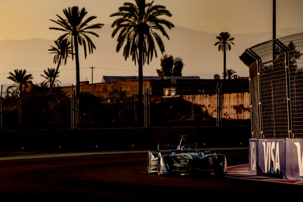 2016/2017 FIA Formula E Championship. Marrakesh ePrix, Circuit International Automobile Moulay El Hassan, Marrakesh, Morocco. Saturday 12 November 2016. Adam Carroll (GBR), Jaguar Racing, Spark-Jaguar, Jaguar I-Type 1.  Photo: Zak Mauger/LAT/Formula E ref: Digital Image _X0W5291