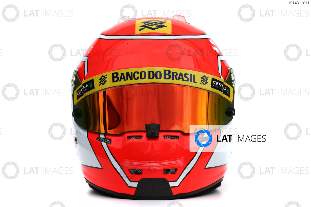 Albert Park, Melbourne, Australia. Helmet of Felipe Nasr, Sauber.  Thursday 12 March 2015. World Copyright: LAT Photographic. ref: Digital Image 2015_Helmet_038