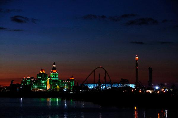 Sochi Autodrom, Sochi, Russia. Thursday 9 October 2014. Sochi at night. World Copyright: Charles Coates/LAT Photographic. ref: Digital Image _J5R7997