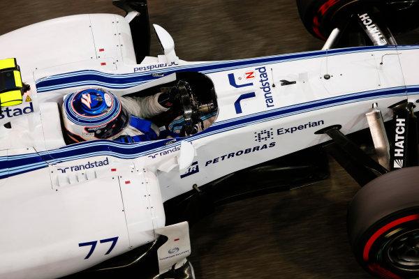 Yas Marina Circuit, Abu Dhabi, United Arab Emirates. Saturday 22 November 2014. Valtteri Bottas, Williams FW36 Mercedes. World Copyright: Charles Coates/LAT Photographic. ref: Digital Image _J5R5067
