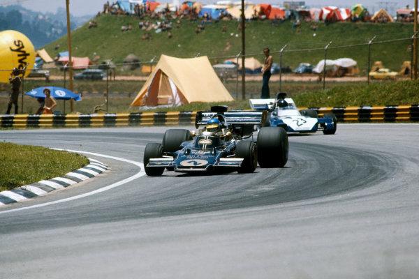 Interlagos, Brazil. 11 February 1973.  Ronnie Peterson, Lotus 72D-Ford, retired.  Ref: 73BRA54. World Copyright: LAT Photographic